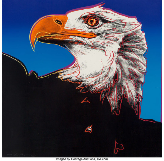 Andy Warhol (1928-1987), Bald Eagle, from Endangered Species (1983)