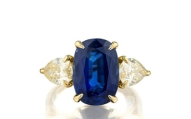A 5.24-Carat Sapphire and Diamond Ring