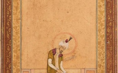 Portrait of Emperor Homayoun, illuminated Indian miniature on paper, Mughal school [India (probably Rajasthan region), c. 1700]