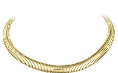 Tiffany & Co. - Tiffany & Co. Gold Gas Pipe Collar Necklace