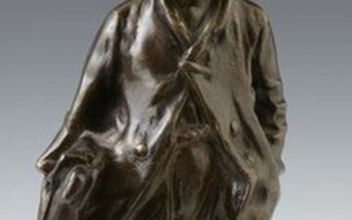 "J. Concini, ""The Schoolboy,"" 20th c., patinated bronze,"