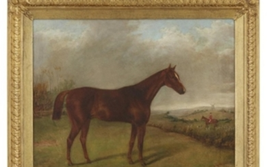 George Henry Laporte (English, 1799-1873) A Horse in the...