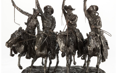 A Reproduction Bronze of Coming Through the Rye After Frederick Reminton