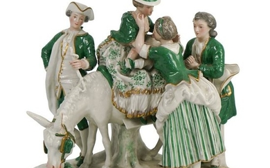 French Porcelain Figural Group