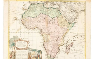 Map of Africa, 1737