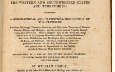 DARBY, William (1775-1854). The Emigrant's Guide to the