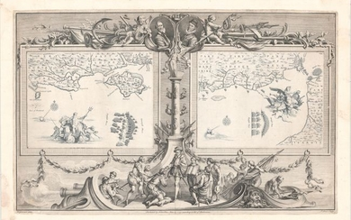 """""""[Untitled - Map VII and VIII of the Spanish Armada in the English Channel]"""", Pine, John"""