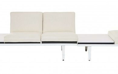 """George NELSON (1908-1986) Deux banquette dites """"Steelframe modular seating"""" - Création circa 1957"""