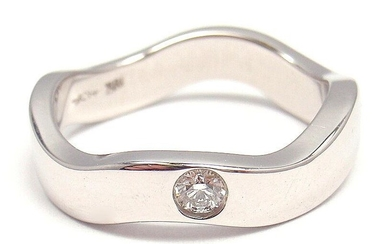 AUTHENTIC HEARTS ON FIRE 18k WHITE GOLD DIAMOND CURVED