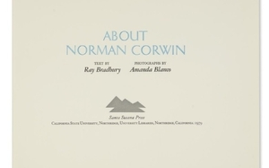 BRADBURY, RAY. About Norman Corwin. Comprises 14...
