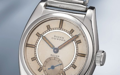 "Rolex, A rare, attractive and exceptionally well-preserved stainless steel wristwatch with ""bamboo"" bracelet"
