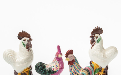 Two Pairs of Roosters
