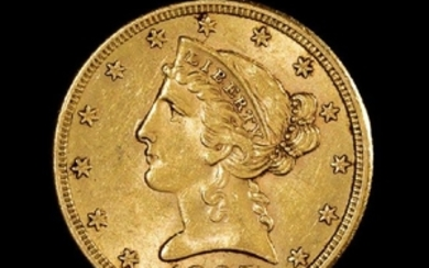A United States 1885-SLiberty Head $5 Gold Coin