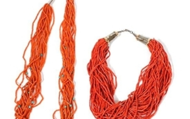 Two Southwestern Coral Necklaces