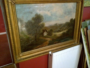 Fine Late 19th c, French School Oil on Canvas.