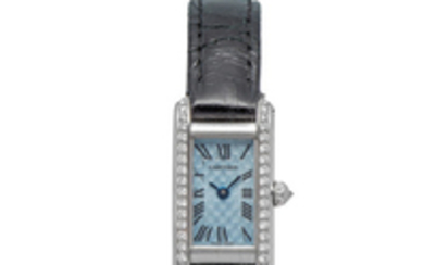 CARTIER, REF. 2525, TANK ALLONGÉE, LIMITED EDITION, WHITE GOLD AND DIAMOND-SET