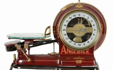 ANGLDILE SCALE OPEN FACE SCALE WITH ORIGINAL STAND.