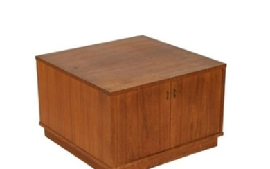 Teak Cabinet with Leather Pulls