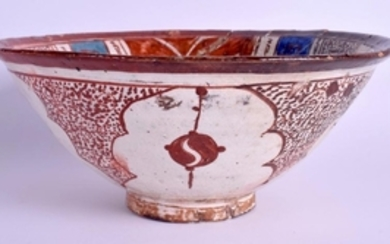 A 13TH CENTURY PERSIAN KASHAN LUSTRE POTTERY BOWL C1250