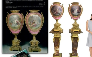 19th C. Monumental Pair of French Sevres Vases