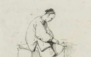 George Chinnery (1774-1852), A Chinese Man seated