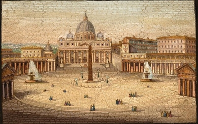 Grand Tour Micro-Mosaic of the Vatican