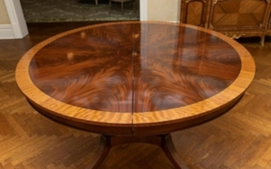Mahogany Pedestal Dining Table - 2 Leaves