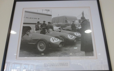 Nine 1950s, motor racing photographs by Peter McCall,