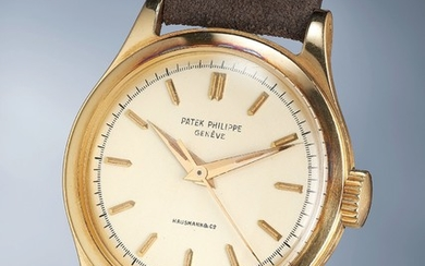 Patek Philippe, Ref. 2508 A highly rare and attractive yellow gold wristwatch with center seconds, luminous markers and hands