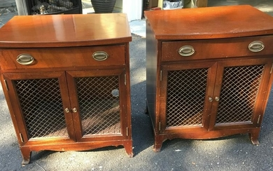 Pair Sheraton Style Night Stands