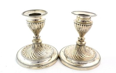 A Pair of Victorian Silver Candlesticks, by Hawksworth, Eyre and...