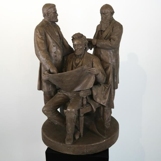 "John Rogers Group: Abe Lincoln ""Council of War"""