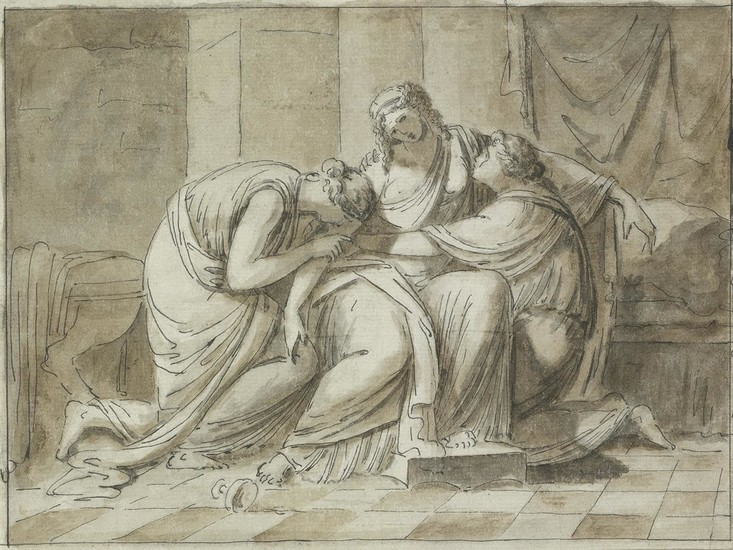 ROMAN SCHOOL, 18TH CENTURY The Death of Sophonisba.