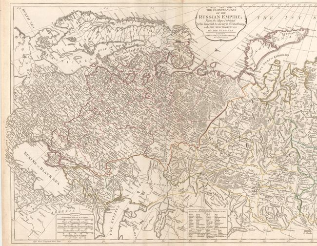 """The European Part of the Russian Empire, from the Maps Published by the Imperial Academy of St. Petersburg... [joined with] The Asiatic Part of the Russian Empire..."", Laurie & Whittle"