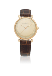 Vacheron & Constantin. An 18K rose gold manual wind wristwatch with teardrop lugs