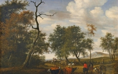 Salomon van Ruysdael, Cattle by a Pond (The Robbery)