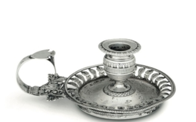 A silver candle holder, Milan, 19th century