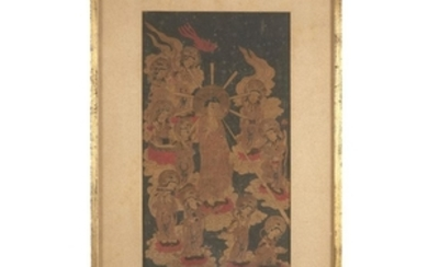 Three Asian works on paper (2 framed) Comprising: three...
