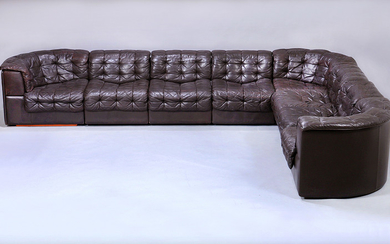 De Sede, Switzerland. Freestanding lounge sofa set, Model DS-11 (8)