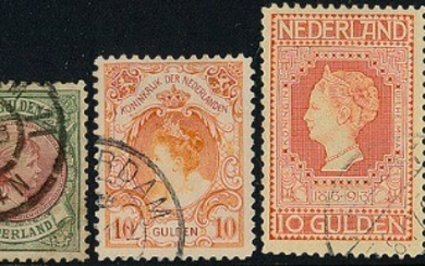 Holland. 1852–1985. Good and well-filled collection in a Davo-album starting with fine classic part, Wilhelmina up to 5 Gld, 10 Gl. 1905 and 1913 and many other