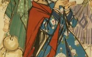 Chinese Scroll Painting of Ladies
