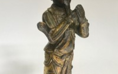 A Gilt Bronze Figurine of Monk, China, Ming Dynasty 16th century.