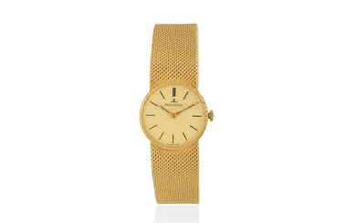 Jaeger-LeCoultre. A lady's 18K gold manual wind bracelet watch
