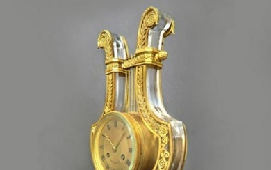 Magnificent French Caldwell Bronze & Crystal Clock