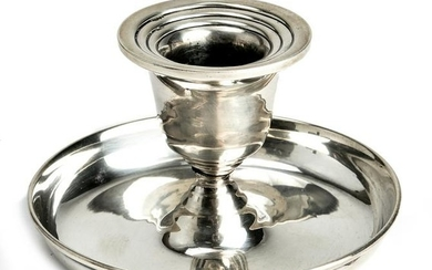 Mid-Century Modern Sterling Silver Candle Holder