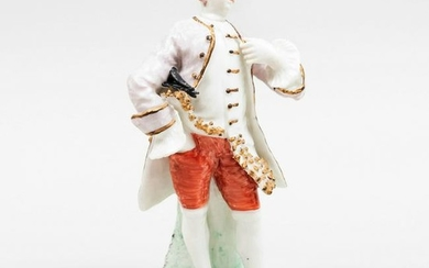 Bow Porcelain Figure of an Actor, Possibly David