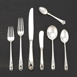 Assorted Sterling Flatware Service for Eight