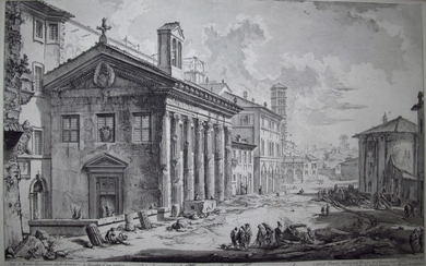 Piranesi, Giovanni: THE TEMPLE OF FORTUNA VIRILIS, Year 1758