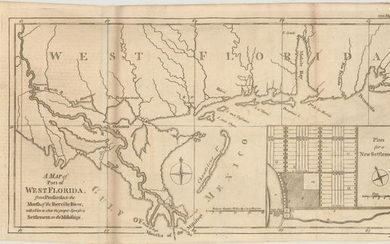 """A Map of Part of West Florida, from Pensacola to the Mouth of the Iberville River, with a View to Shew the Proper Spot for a Settlement on the Mississipi"", Lodge, John"