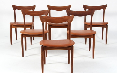 H.W. Klein. Dining chairs, teak, 1960s (6)